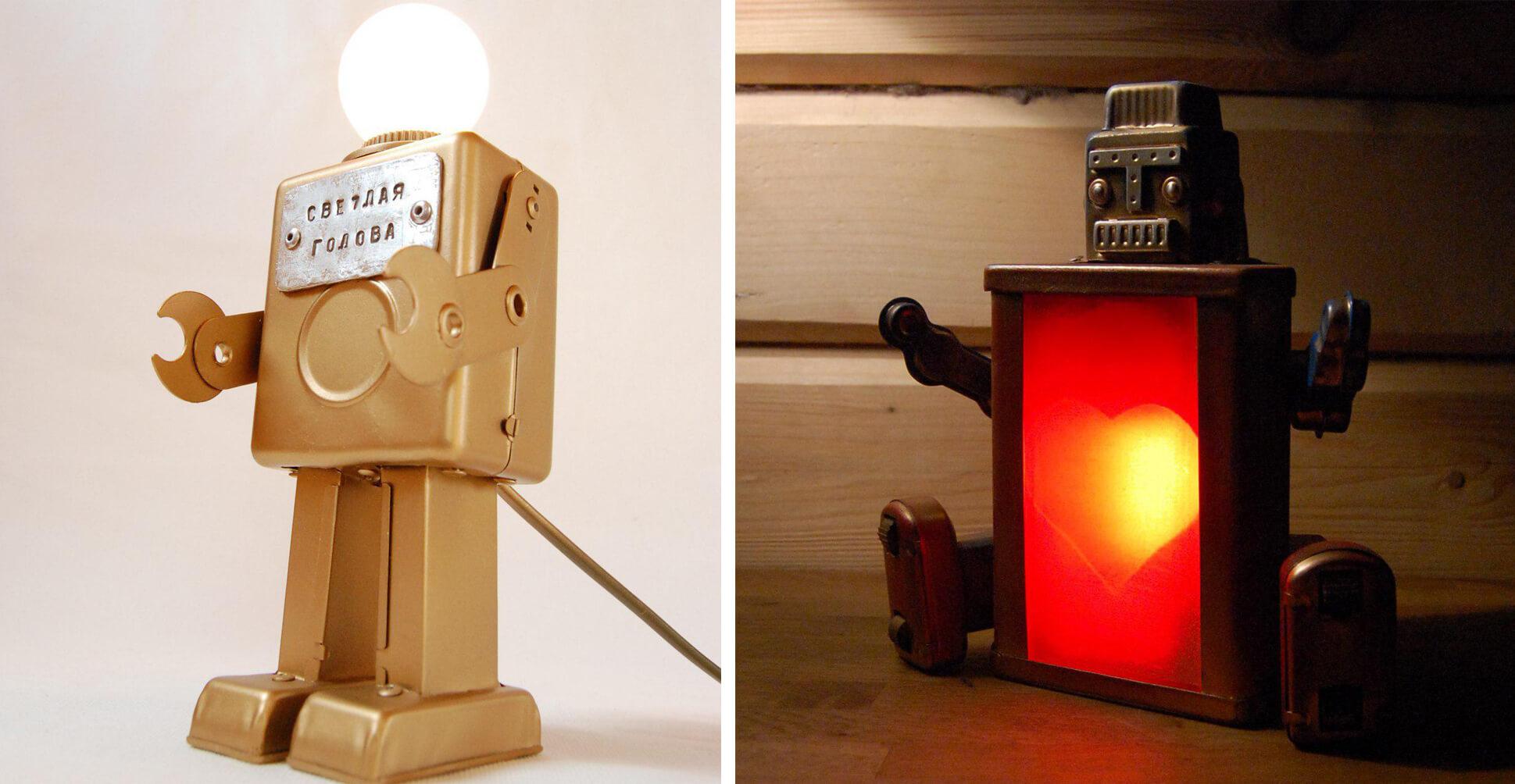 Светильники из роботов
