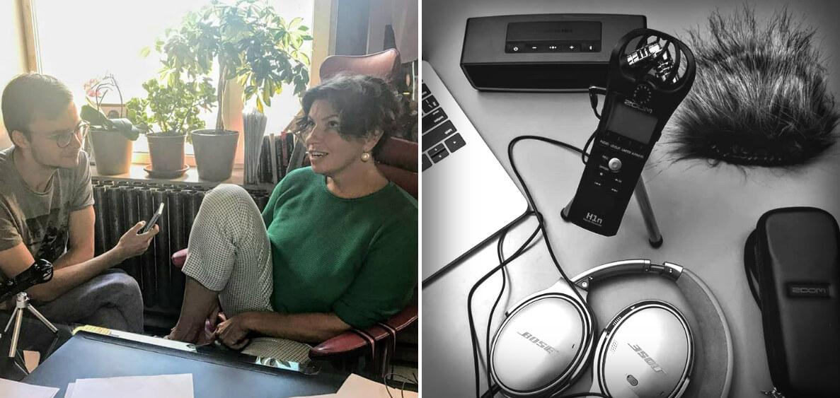 Синдеева и микрофон